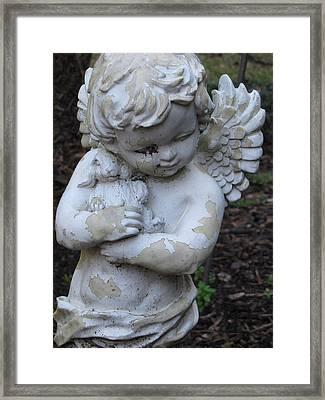 Framed Print featuring the photograph Little Angel by Beth Vincent