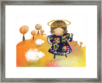 Little Angel Framed Print by Karin Taylor
