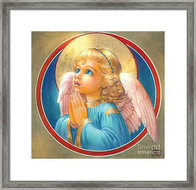 Little Angel Framed Print by Zorina Baldescu