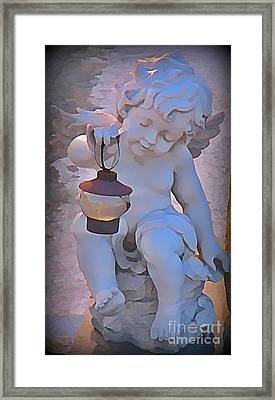 Little Angels Light The Way Framed Print