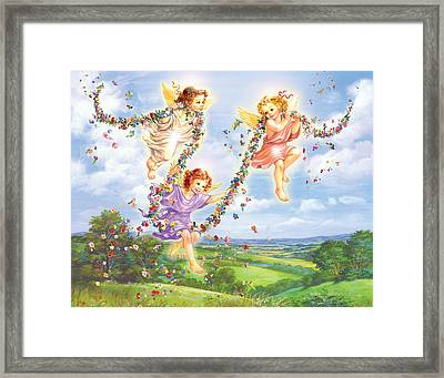 Little Angles Framed Print by Zorina Baldescu