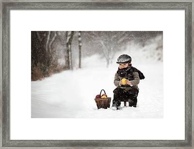 Little Apple Seller Framed Print by Tatyana Tomsickova