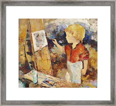 Little Art Painter  Framed Print by Terezia Sedlakova