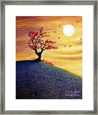 Little Autumn Tree Framed Print