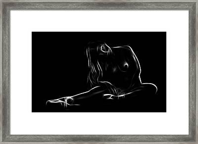 Little Ballerina Nude Framed Print by Steve K