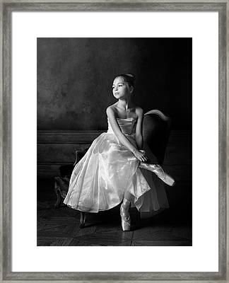 Little Ballet Star Framed Print