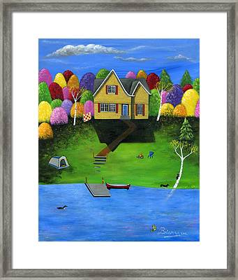 Little Bear Cottage Framed Print by Brianna Mulvale