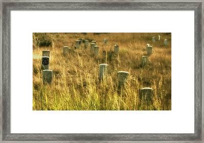 Little Big Horn Gravesite Framed Print