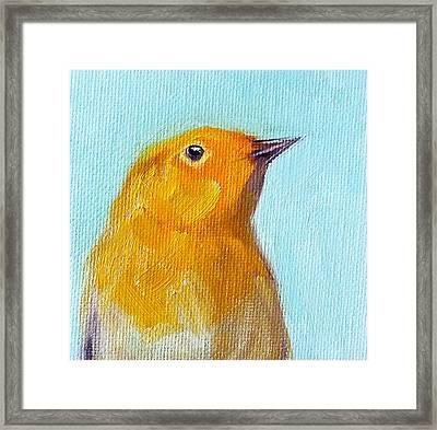 Little Bird Framed Print by Nancy Merkle