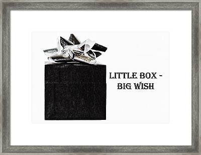 Framed Print featuring the photograph Black Present With A Silver Bow by Vizual Studio