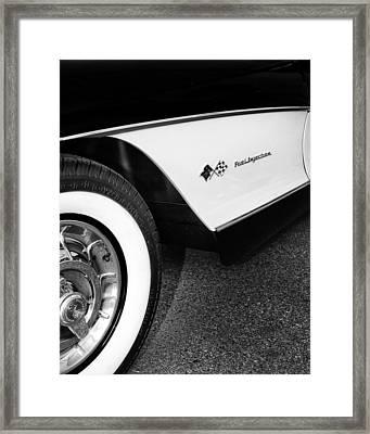 Little Black Corvette Palm Springs Framed Print