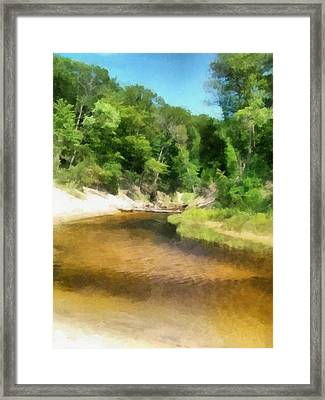 Little Black Creek - Hoffmaster State Park Framed Print by Michelle Calkins