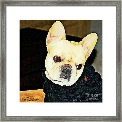 Framed Print featuring the painting Little Black Sweater by Barbara Chichester