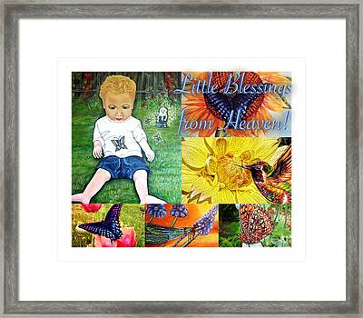 Little Blessings From Heaven Collage Framed Print by Kimberlee Baxter