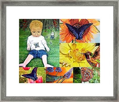 Little Summertime Blessings From Heaven Framed Print by Kimberlee Baxter