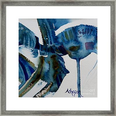 Little Blue Abstract 2 Of 6 Framed Print by Donna Acheson-Juillet