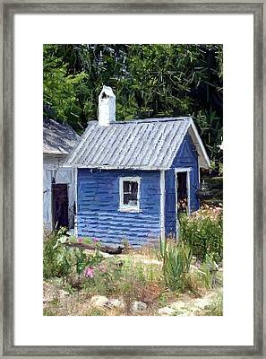 Little Blue House - Perryville Ky Framed Print