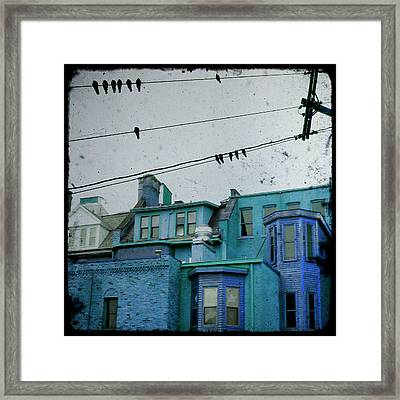 Little Blue Houses Framed Print by Gothicrow Images