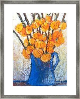 Little Blue Jug Framed Print by Sherry Harradence