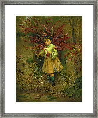 Little Bo Peep 1867 Framed Print by JG Brown