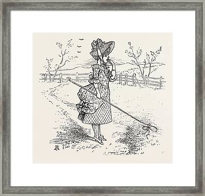 Little Bo-peep Has Lost Her Sheep, And Cannot Tell Where Framed Print by English School