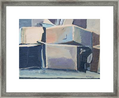 Little Boxes-all The Same?  Framed Print