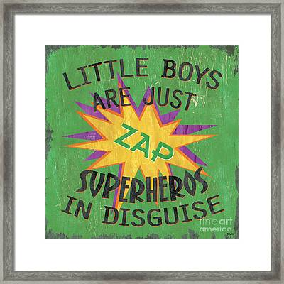 Little Boys Are Just... Framed Print by Debbie DeWitt