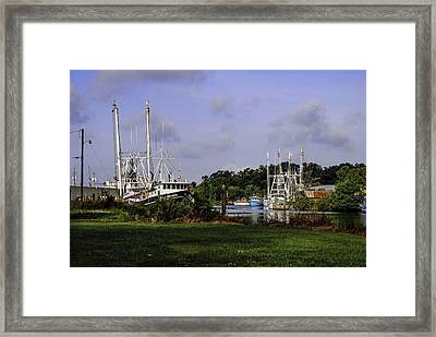 Little Brothers And Miss Edie Framed Print by Michael Thomas