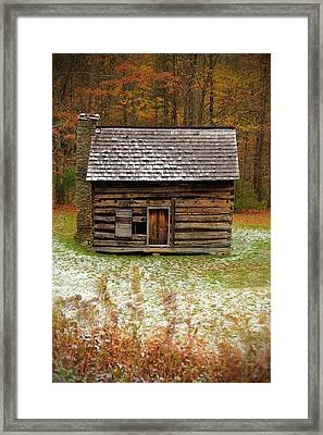 Little Cabin Framed Print by Jaki Miller