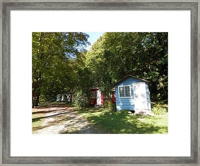 Little Cabins Framed Print