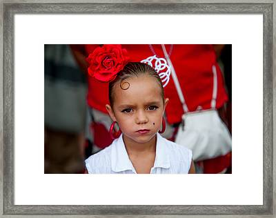 Little Carmen. Romeria Celebration In Torremolinos. Spain Framed Print