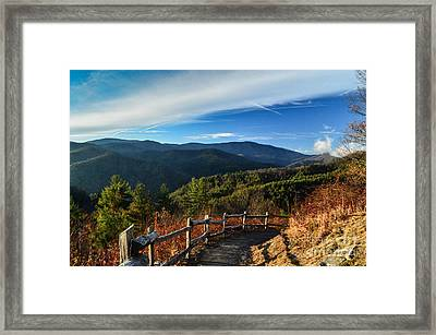 Framed Print featuring the photograph Little Cataloochee Overlook In Summer by Debbie Green