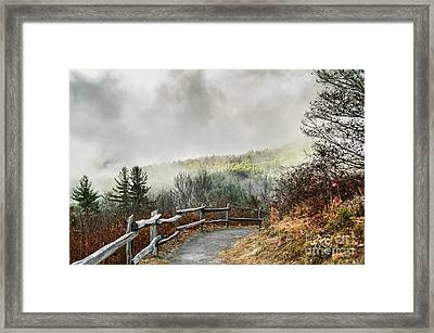 Framed Print featuring the photograph Little Cataloochee Overlook In The Great Smoky Mountains by Debbie Green