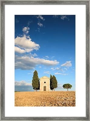 Little Chapel In Tuscany Framed Print