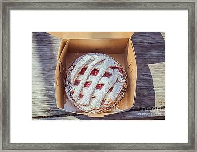 Little Cherry Pie Framed Print by Edward Fielding