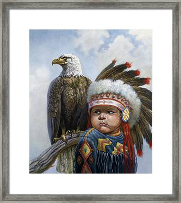 Little Chief Framed Print