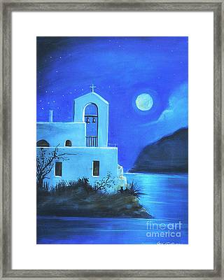 Framed Print featuring the painting Little Church By The Sea by S G