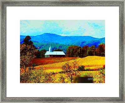 Little Church In The Mountains Of Wv Framed Print