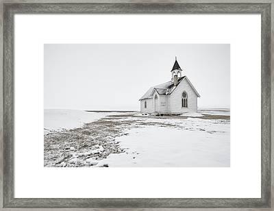 Little Church In The Prairies Framed Print