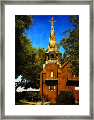 Little Church Of The West Framed Print by Julie Palencia