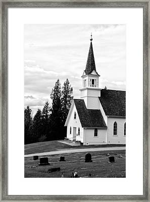 Little Church On The Hill Framed Print by Marv Russell