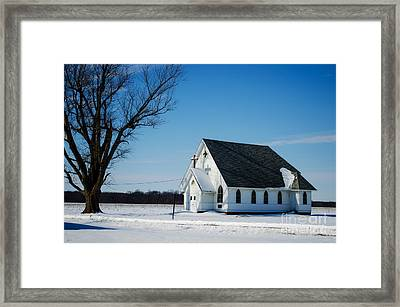 Little Church On The Prairie Framed Print