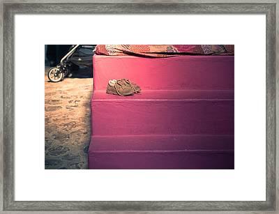 Little Cinderella Shoes Framed Print by Georgina Noronha