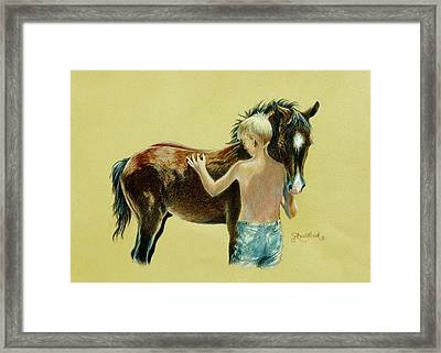 Little Colts Framed Print