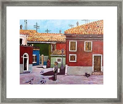 Little Corner Of Venice Framed Print by Caroline Street