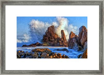 Framed Print featuring the painting Little Corona by Michael Pickett