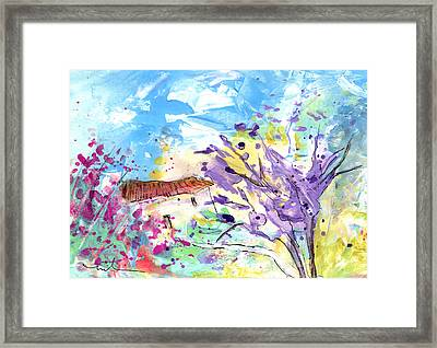 Little Cottage In The South Of France Framed Print by Miki De Goodaboom