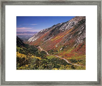 Little Cottonwood Highway (s Framed Print
