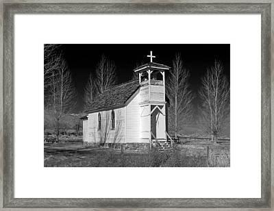 Little Country Church Framed Print by Donna Kennedy