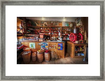 Little Country Grocery  Framed Print by Debra and Dave Vanderlaan